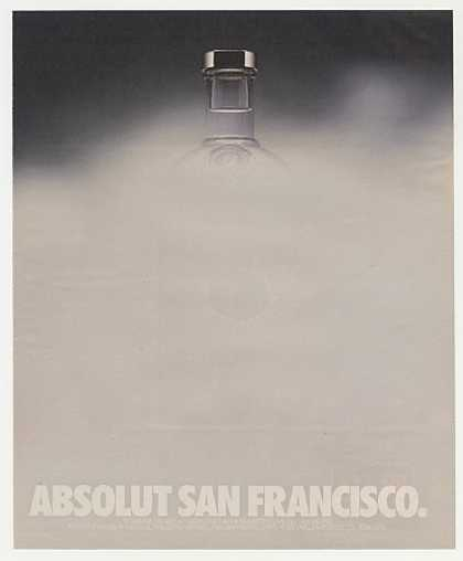 Absolut San Francisco Foggy Bottle Vodka (1991)