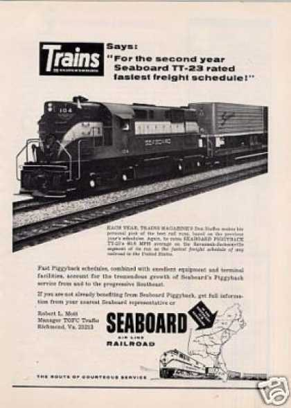 Seaboard Air Line Railroad Ad Alco Rs-11 #104 (1964)