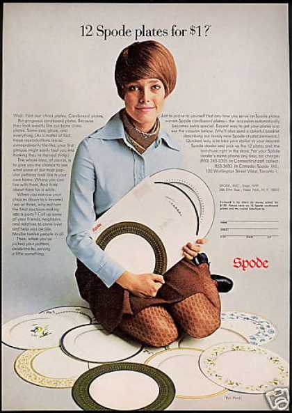 Spode Sample Cardboard Plates Photo (1969)
