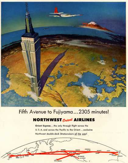 Northwest Orient Airline's Orient Express – Fifth Avenue to Fujiyama (1953)