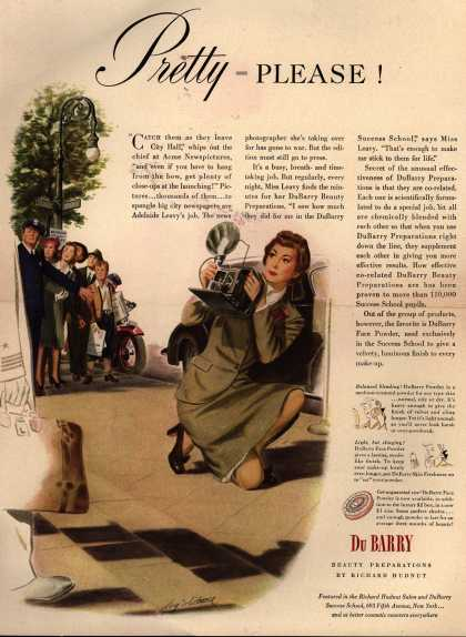 Richard Hudnut's DuBarry Face Powder – Pretty = Please (1944)