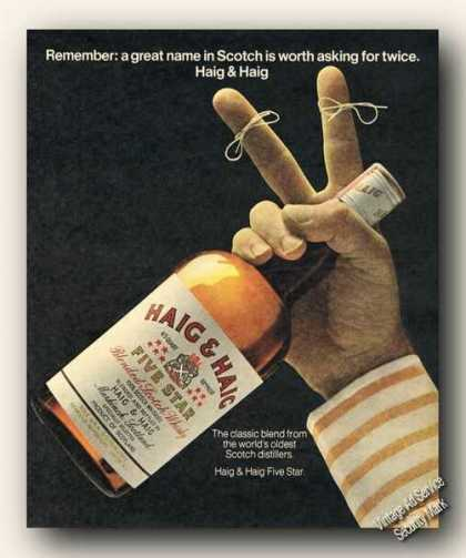 Haig & Haig Scotch String On Two Fingers (1973)