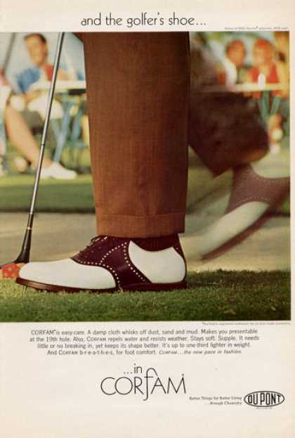 Dupont Corfam Golf Golfer's Shoes Club (1965)
