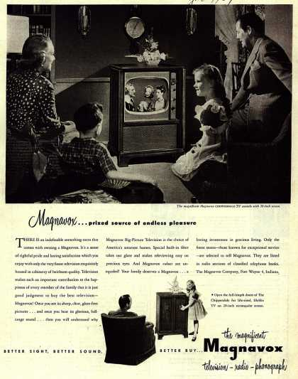 Magnavox Company's Television – Magnavox... prized source of endless pleasure (1951)