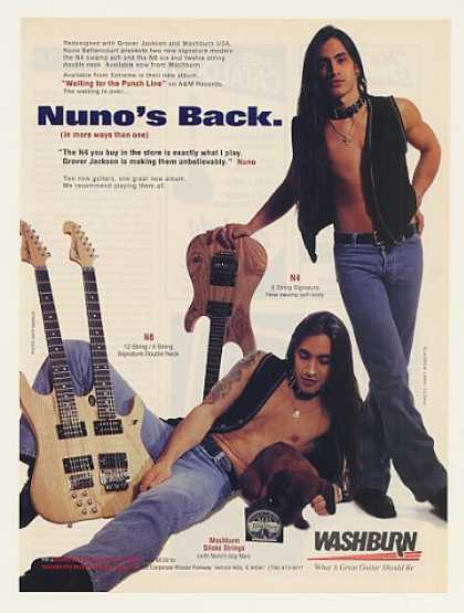 Nuno Bettencourt Washburn N8 Double N4 Guitar (1995)