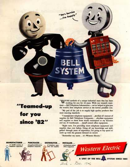 Western Electric's Corporate ad – Bell System (1946)