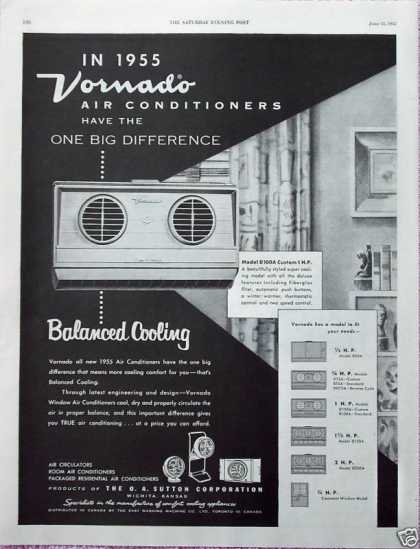 Vornado Air Conditioner Balanced Cooling (1955)