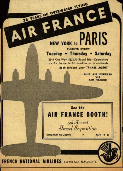 French National Airline's Paris – 28 Years Of Overwater Flying (1947)