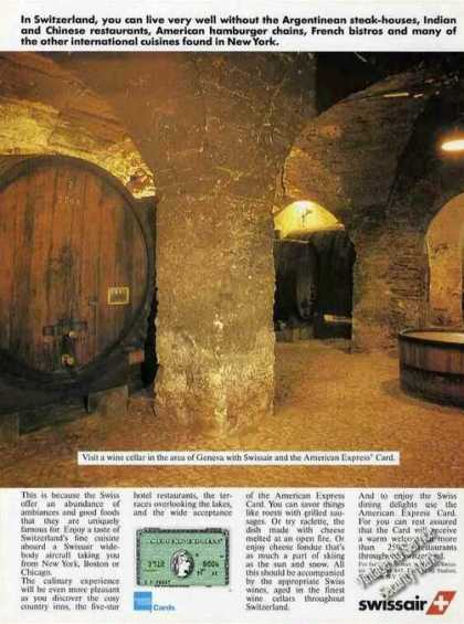 Wine Cellar In Geneva Switzerland Amex (1986)