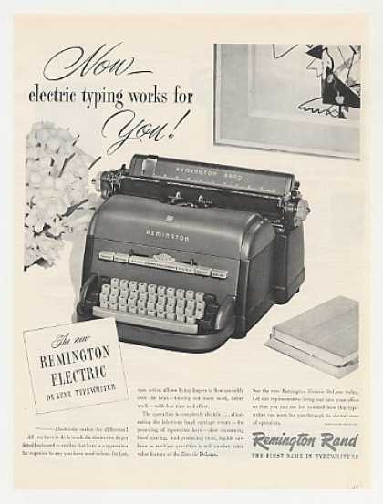 Remington Rand Electric DeLuxe Typewriter Photo (1949)