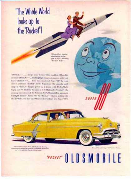 Oldsmobile Car – Yellow Rocket Super 88 Sedan (1948)