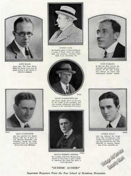 Theatre Drama Authors of the Year Photos Feature (1924)