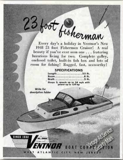Ventnor 23' Fisherman Cruiser Atlantic City Nj (1948)