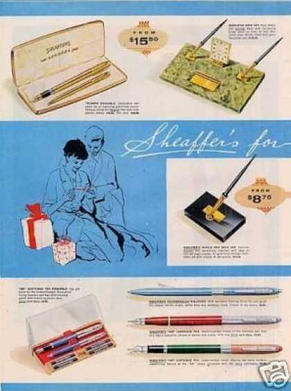 Sheaffer's Pens Ad 2 Page (1957)