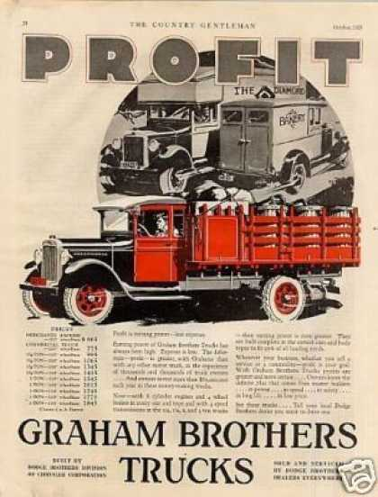 Graham Brothers Truck Color (1928)