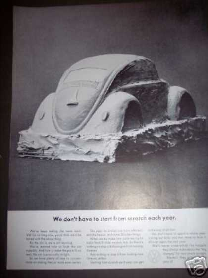 Vw Volkswagen Beetle Bug Clay Model Car (1964)