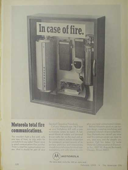 Motorola total fire communications. IN case of fire. (1969)