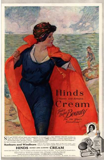 Sunburn Windburn Hinds Cream Skin Care Skincare, UK (1920)