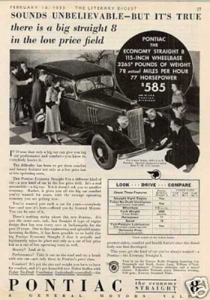 24 march 1933 friday what happened on for 1933 pontiac 4 door sedan