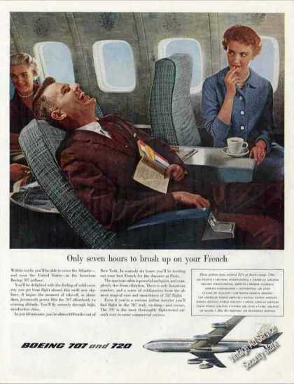 Boeing 707 To France Pre Introduction (1958)