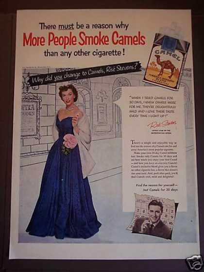 Camels Cigarettes Rise Stevens (1953)