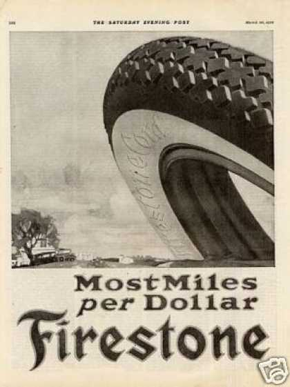 Firestone Tire Ad 2 Page (1920)