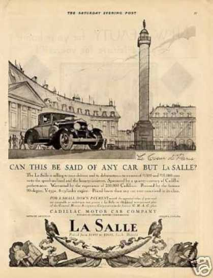 "La Salle Car Ad ""Can This Be Said... (1927)"
