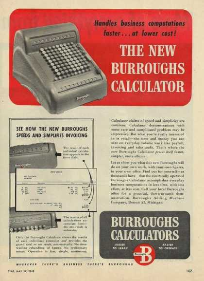 Burroughs Office Calculator (1948)