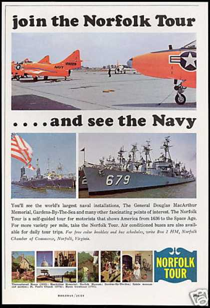 Norfolk Tour Virginia US Navy Photo Travel (1964)