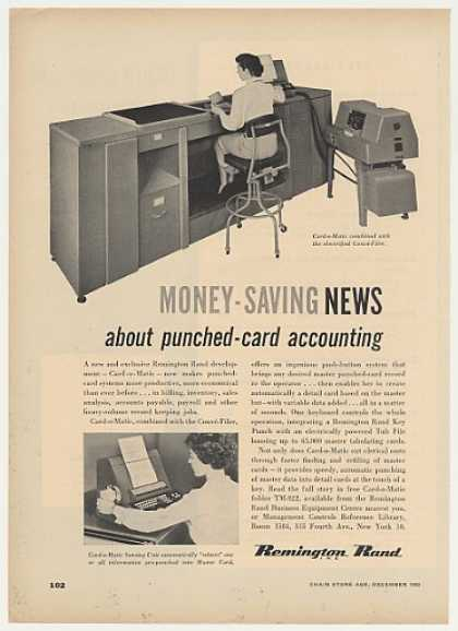'52 Remington Rand Card-o-Matic Punched-Card Machine (1952)
