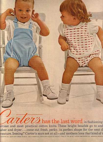 Carter's Cotton Knits for young children (1962)