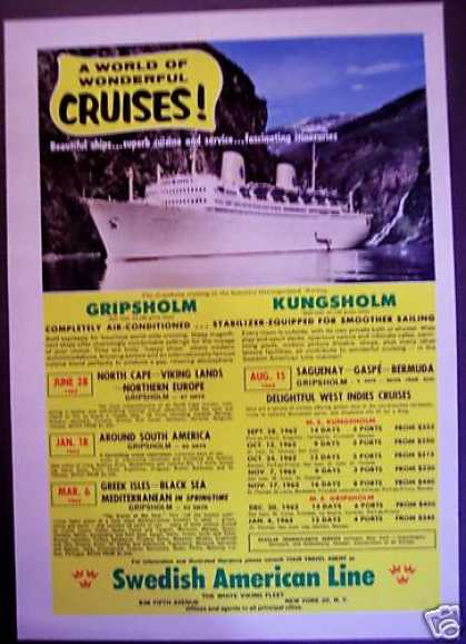 Vacation Cruises Gripsholm Travel Promo (1962)
