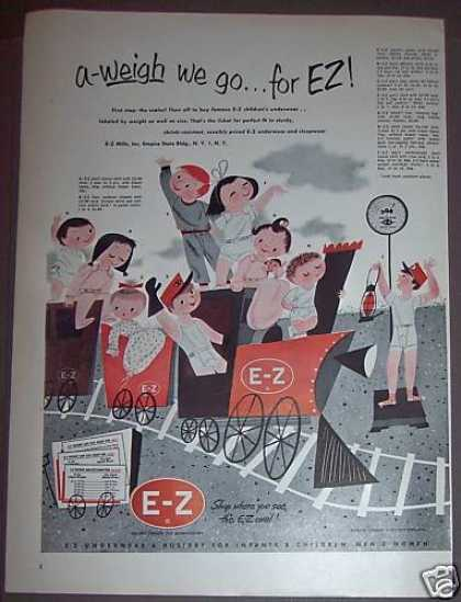 E-z Kids Childrens Underwear (1953)