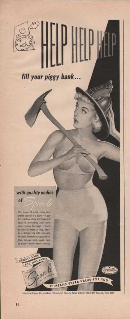 Spun Lo Quality Undies for Women (1949)