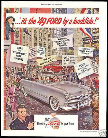 Ford 2 Dr Hardtop Convertible Vintage Car (1949)