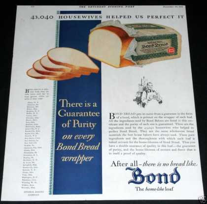 Bond Bread, Home-like (1929)