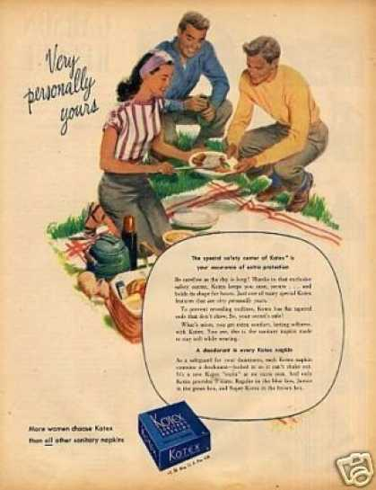 Kotex Sanitary Napkins (1946)