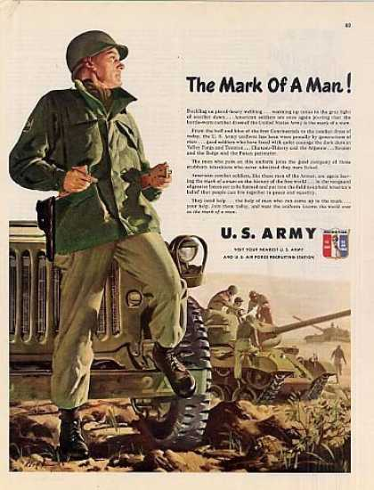 "U.s. Army Recruiting Ad ""Mark of a Man... (1951)"