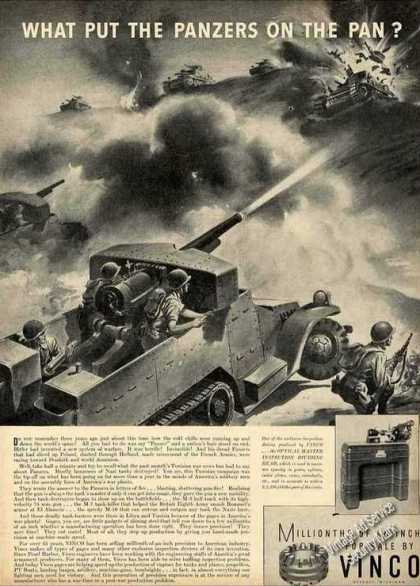 Wwii Art Shooting Panzer Tanks Art Vinco (1943)