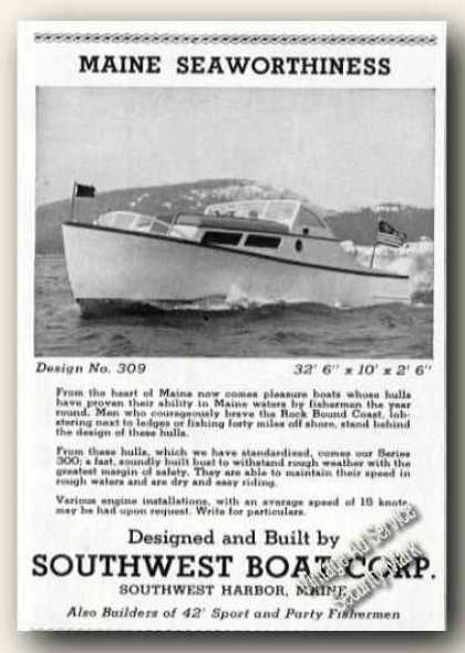 Southwest Boat Corp Great Advertising (1947)