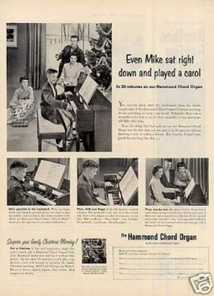 "Hammond Organ Ad ""Even Mike Sat Right Down... (1954)"