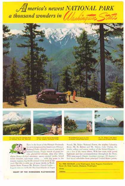 Washington State Travel – Olympic National Park (1941)