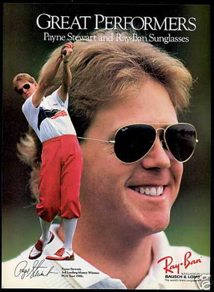 Payne Stewart Golf Ray-Ban Sunglasses (1989)