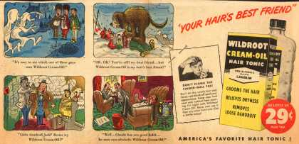 """Wildroot Company's Cream Oil – """"Your Hair's Best Friend"""" (1952)"""