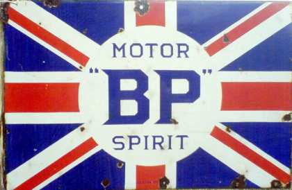 BP Motor Spirit Union Jack Sign