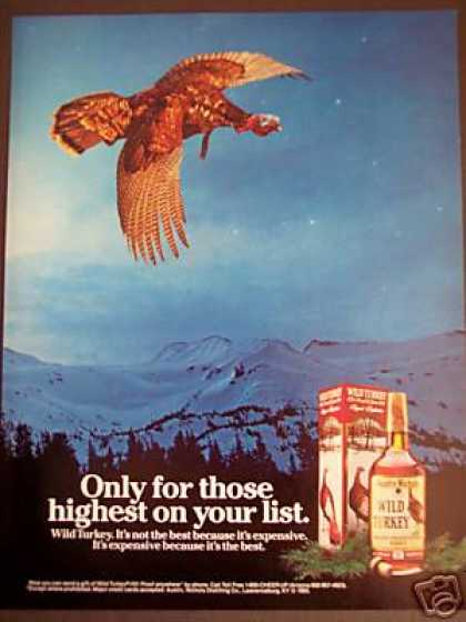 Flying Wild Turkey Whisky Holiday (1985)