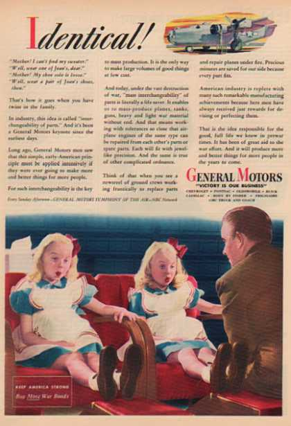 General Motors – Victory is Our Business – Buy Bonds War Time (1944)