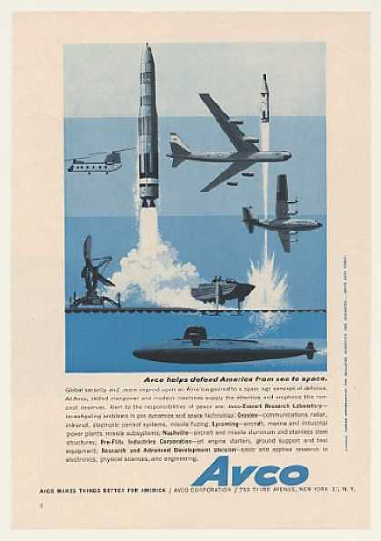 Avco Sea to Space Defense Missile Aircraft Sub (1960)