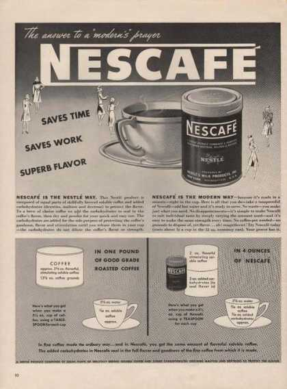 Nescafe Coffee Saves Time Saves Work (1942)