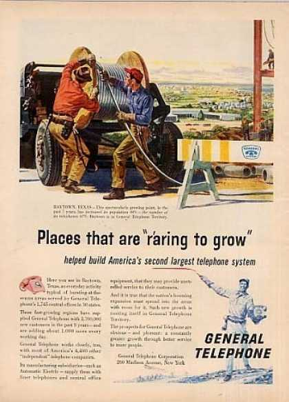 General Telephone Ad Baytown, Texas (1958)